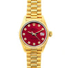 Rolex Datejust 26mm 18k Yellow Gold President Bracelet Cardinal Dial