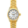 Rolex Datejust 26mm 18k Yellow Gold President Bracelet Old Lace Dial w/ Diamond Lugs