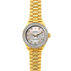 Rolex Datejust 26mm 18k Yellow Gold President Bracelet Echo Blue Dial w/ Diamond Bezel