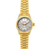 18k Yellow Gold Rolex Datejust Diamond Watch, 26mm, President Bracelet Echo Blue Dial w/ Diamond Lugs