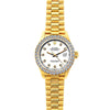 Rolex Datejust 26mm 18k Yellow Gold President Bracelet White Dial w/ Diamond Bezel