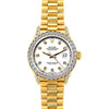 Rolex Datejust 26mm 18k Yellow Gold President Bracelet White w/ Diamond Bezel and Lugs