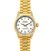 Rolex Datejust 26mm 18k Yellow Gold President Bracelet White Dial w/ Diamond Lugs