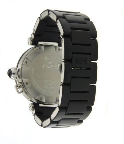 Stainless Steel and Rubber Cartier Pasha Seatimer