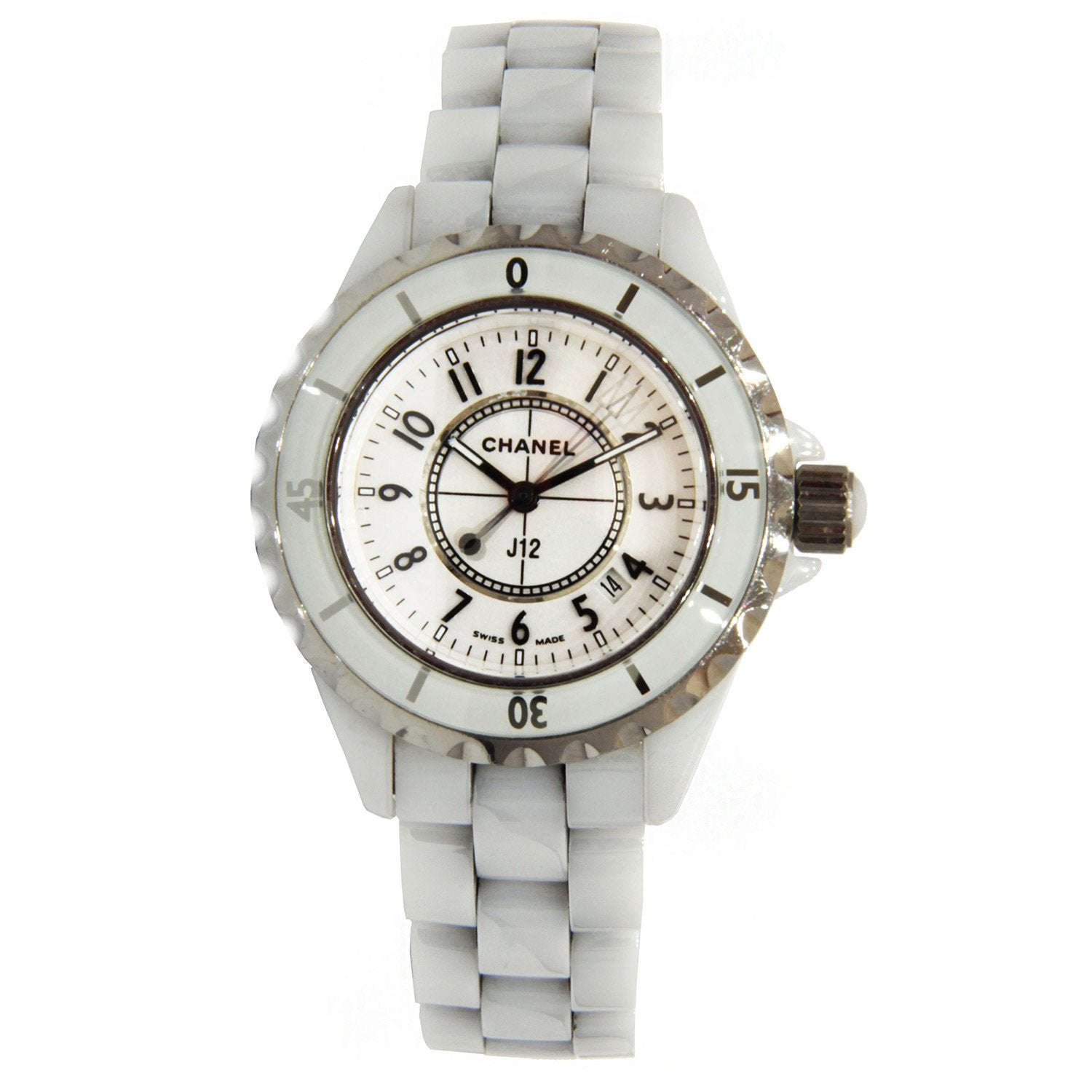 Chanel J12 Quartz Ladies White Ceramic Watch 33mm