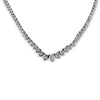 14K White Gold  Graduated Diamond Tennis Necklace 10.00CT