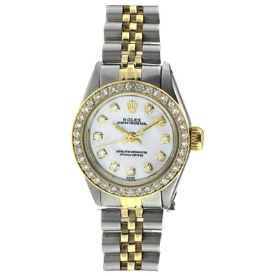 Rolex Datejust Ladies Diamond Watch, 6719 26mm, Two Tone Stainless Steel and Yellow Gold with Diamonds