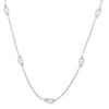 18K White Gold Necklace with Diamond Links And Total CT Weight Of 1.08CT