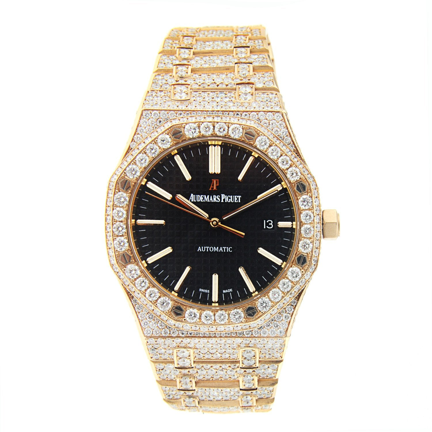 Audemars Piguet Royal Oak Pink Gold with Diamonds - 15400OR.OO.1220OR.01