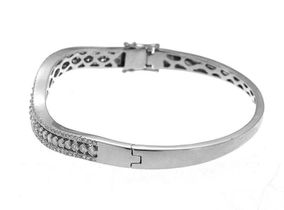 Elegant White Gold Diamond Bangle