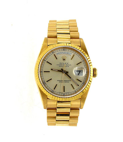 Rolex Day Date President Yellow Gold 36MM Champagne Dial 18038
