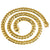 Men's Solid Miami Cuban Link Chain 10K Yellow Gold