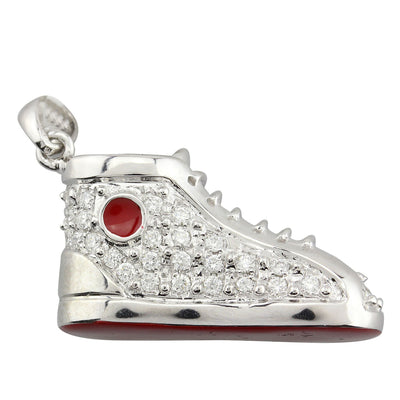 Sneaker Pendant with Diamonds