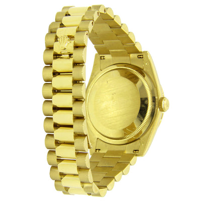 18k Yellow Gold Rolex Day Date 36MM White Gold with roman Numerals 18038