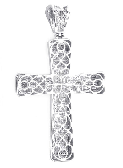 Extra Large Princess Cut Diamond Cross
