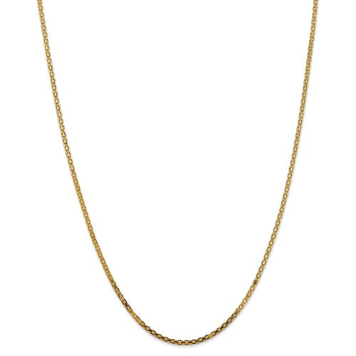 14k 2mm Lightweight Flat Bismark Chain Available Sizes 16""