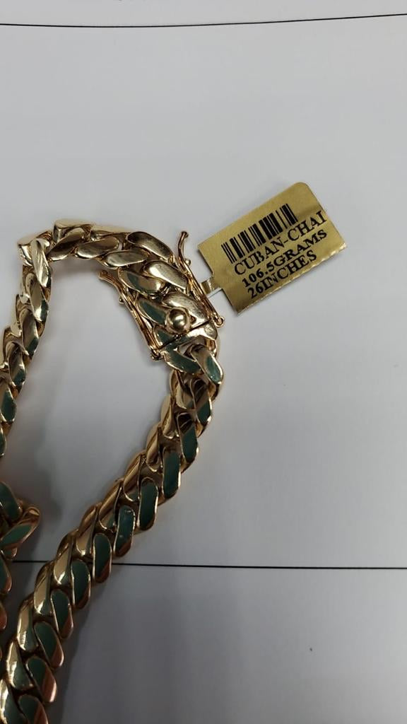 Cuba chain 10k and 28 inches 110 grams 4200