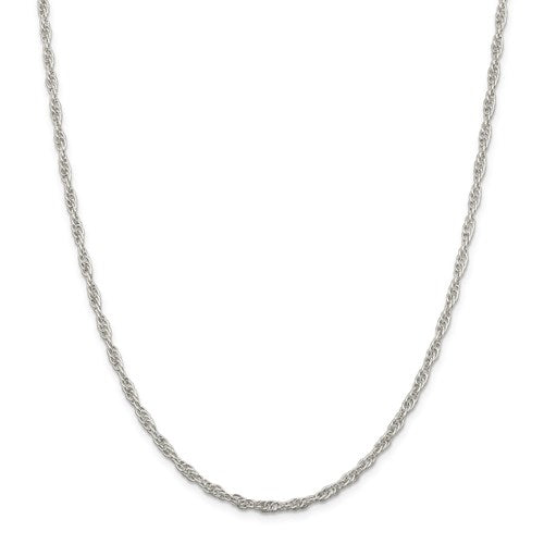 "Sterling Silver 2.75mm Loose Rope Chain Available Sizes 16""-30"""