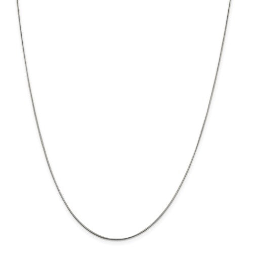 "Sterling Silver .8mm Round Snake Chain Available Sizes 7""-30"""