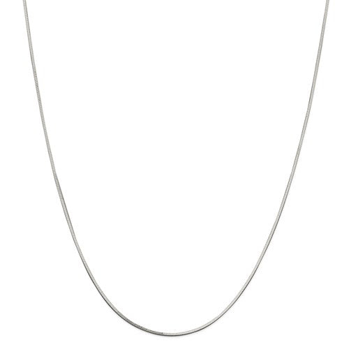 "Sterling Silver 1mm Square Snake Chain Available Sizes 7""-24"""