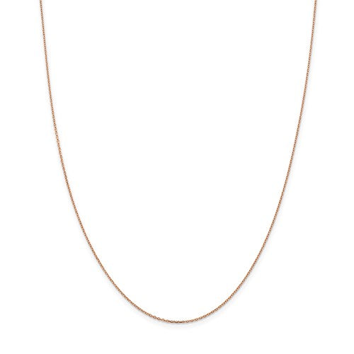 "14k Rose Gold 1.0mm Cable Chain Available Sizes 10""-30"""