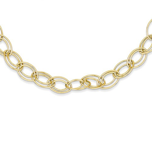 14K Adjustable Oval Link Necklace Available 16""