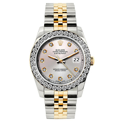 Rolex Datejust Diamond Watch, 26mm, Yellow Gold and Stainless Steel Bracelet Martini Dial w/ Diamond Bezel