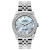 Rolex Datejust 26mm Stainless Steel Bracelet Blue Mother of Pearl Dial w/ Diamond Bezel