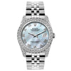 Rolex Datejust 26mm Stainless Steel Bracelet Blue Mother of Pearl Dial w/ Diamond Bezel and Lugs
