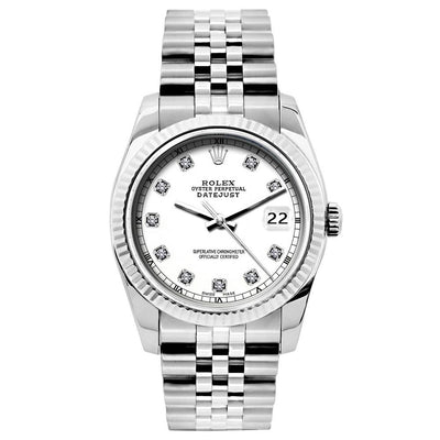 Rolex Datejust 26mm Stainless Steel Bracelet White Dial