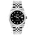 Rolex Datejust 26mm Stainless Steel Bracelet Jet Black  Dial