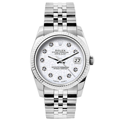 Rolex Datejust 26mm Stainless Steel Bracelet Rolex White  Dial
