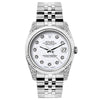 Rolex Datejust 26mm Stainless Steel Bracelet Rolex WhiteDial w/ Diamond Lugs