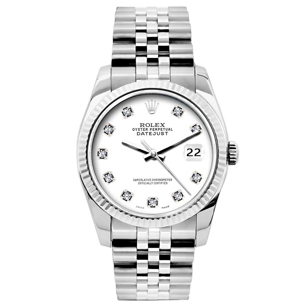 Rolex Datejust 26mm Stainless Steel Bracelet White Roman Dial