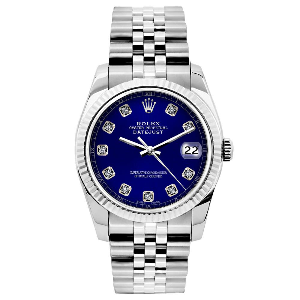 Rolex Datejust 26mm Stainless Steel Bracelet Blue Dial
