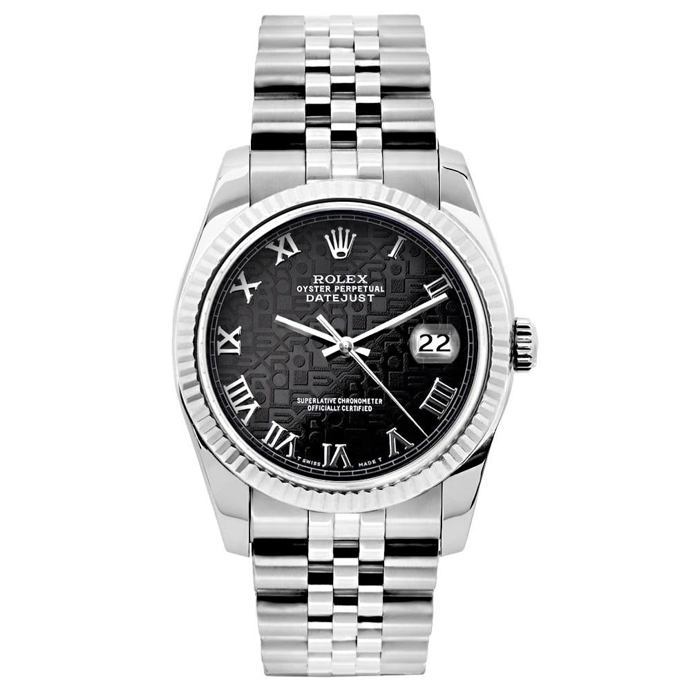Rolex Datejust 26mm Stainless Steel Bracelet Black Rolex Dial