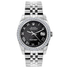 Rolex Datejust 26mm Stainless Steel Bracelet Black Rolex Dial w/ Diamond Bezel
