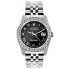 Rolex Datejust 26mm Stainless Steel Bracelet Black Rolex Dial w/ Diamond Bezel and Lugs