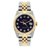 Rolex Datejust 36mm Yellow Gold and Stainless Steel Bracelet Purple Dial w/ Diamond Lugs
