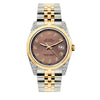 Rolex Datejust 36mm Yellow Gold and Stainless Steel Bracelet Earthen Dial w/ Diamond Lugs