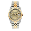 Rolex Datejust 36mm Yellow Gold and Stainless Steel Bracelet Gold Dial w/ Diamond Lugs