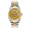 Rolex Datejust 36mm Yellow Gold and Stainless Steel Bracelet Yellow Gold Dial w/ Diamond Lugs