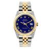 Rolex Datejust 36mm Yellow Gold and Stainless Steel Bracelet Royal Blue Dial w/ Diamond Lugs