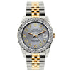 Rolex Datejust Diamond Watch, 26mm, Yellow Gold and Stainless Steel Bracelet Aluminum Dial w/ Diamond Bezel