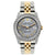 Rolex Datejust Diamond Watch, 26mm, Yellow Gold and Stainless Steel Bracelet Aluminum Dial w/ Diamond Bezel and Lugs
