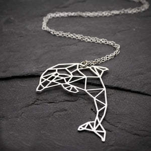 Origami Dolphin Necklace