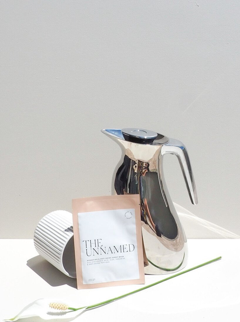 The Unnamed Hydrating Face Sheet Masks with Water Jug & White Flower