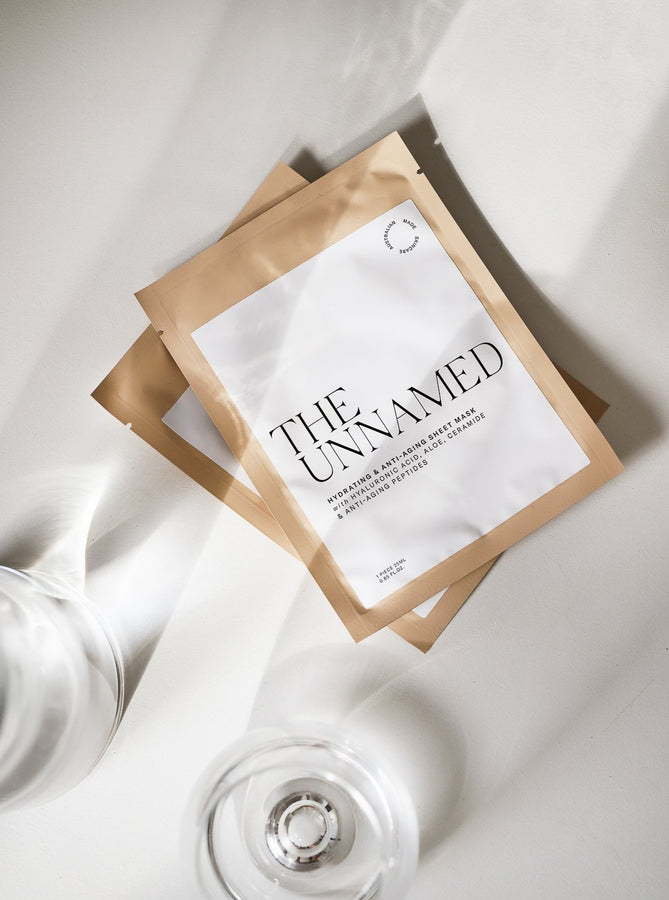 The Unnamed Hydrating Face Sheet Masks with Glass of Water