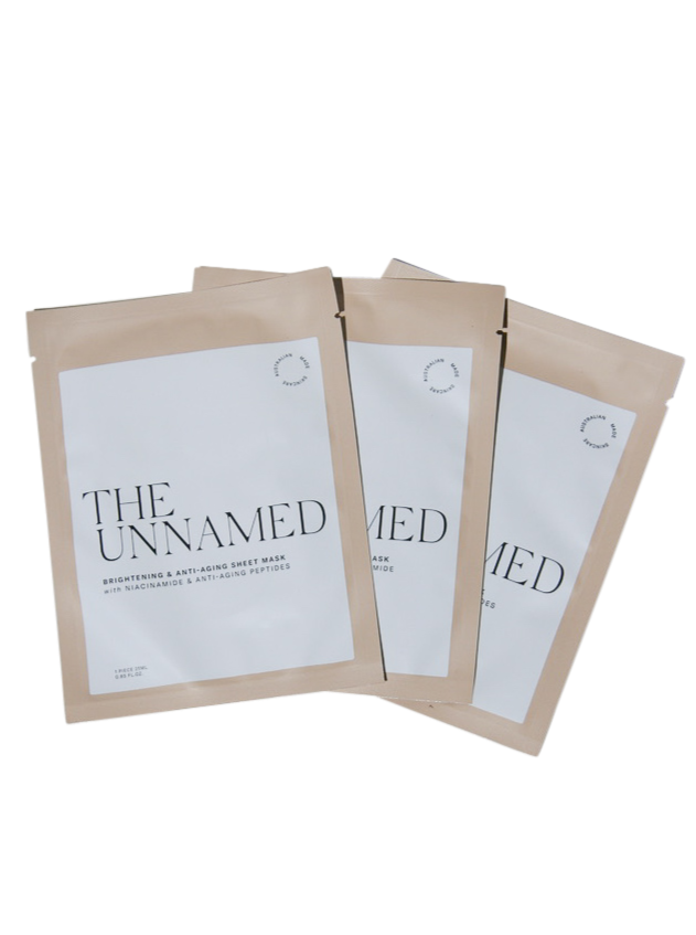 The Unnamed Face Sheet Masks Fanned Out
