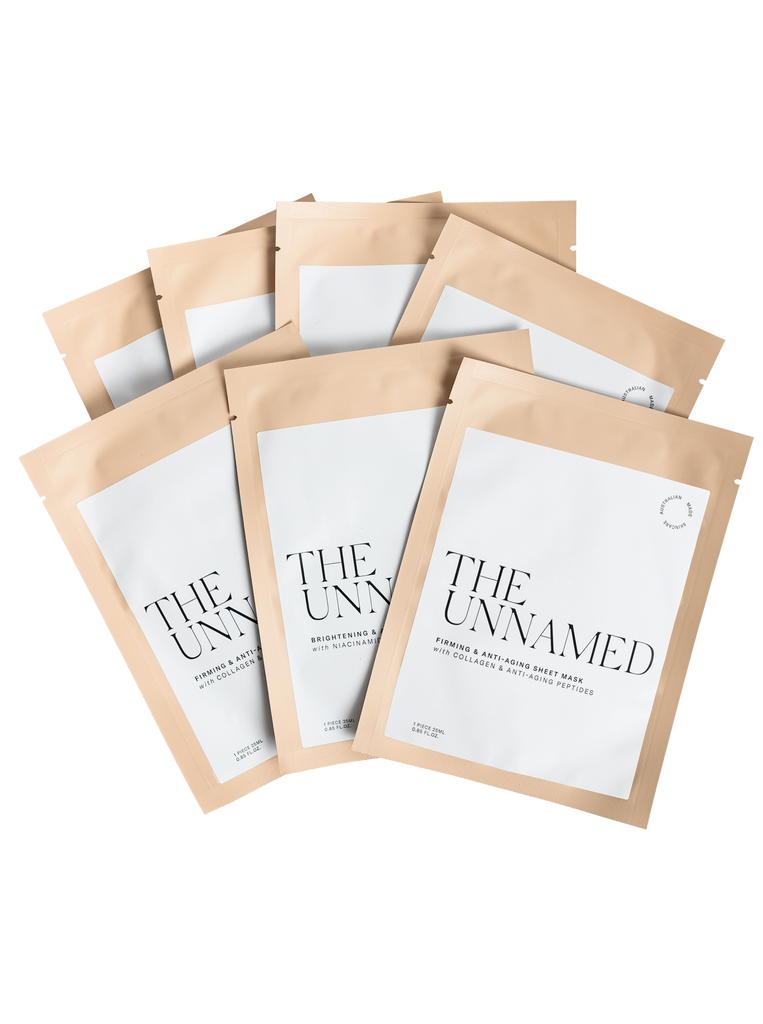 7 Face Sheet Masks from The Unnamed Skincare